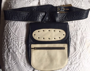 Beautiful 1960's leather hip bag