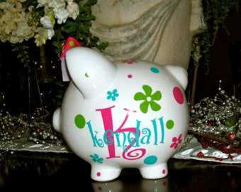 Personalized Large Piggy Bank