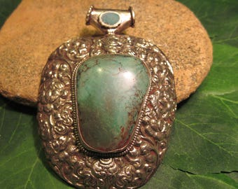 Exceptionally Large Turquoise Pendant