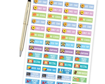 School Planner Stickers - School Year Events