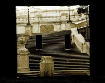 Double Switchplate Cover - The Spanish Steps in Rome