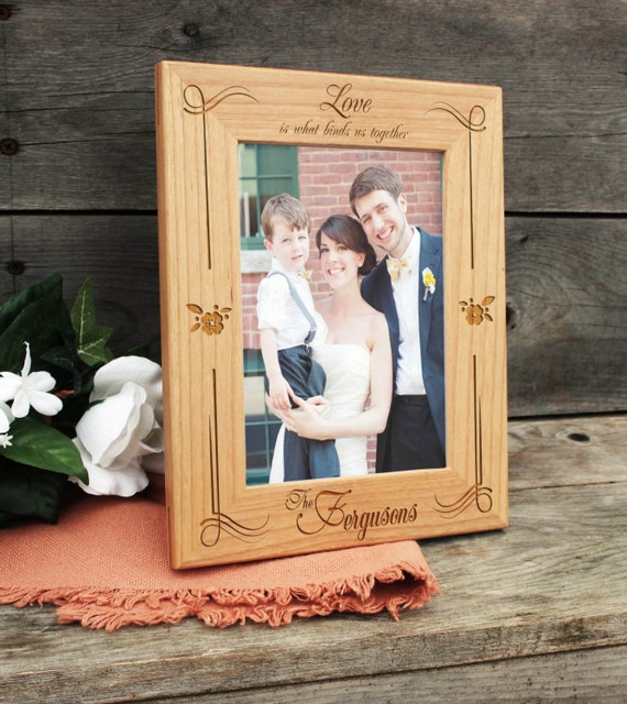 Personalized Picture Frame, Wood Frame, Birthday Gift, Last Name ...