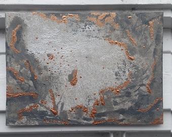 Ursa Major - mural painting, abstract painting, acrylic on cardboard, 13x18cm