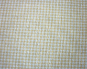Soft Yellow Check Fabric Light Upholstery Weight By The Fat Quarter BTFQ New