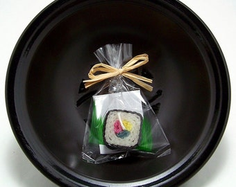 Original Square Sushi Candle Gift Japanese Asian Japan Party Favor or Wedding Favors Faux Food