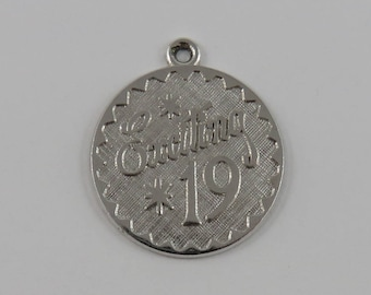 Exciting 19 Sterling Silver Vintage Charm For Bracelet