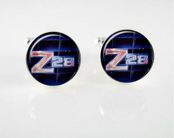 Vintage Z28 Emblem Cuff Links or Tie Clip