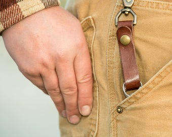 Leather Keychain Lanyard - Everyday Carry (EDC) Gear - EDC Keychains