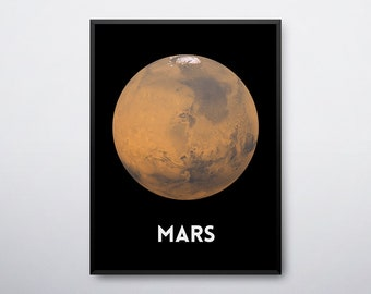 Mars Poster, Mars Print, Mars Printable, Solar System, Outer Space Decor, Outer Space Nursery, Astronomy Gifts,Outer Space, INSTANT DOWNLOAD