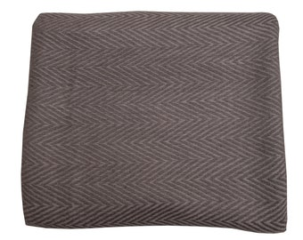Charcol Grey Cashmere Throw 135 x270cm