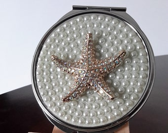 Pearl Starfish Compact Mirror