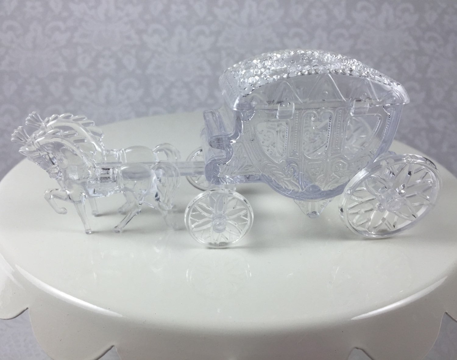 1 Clear Horse Drawn Cinderella Coach Carriage Wedding