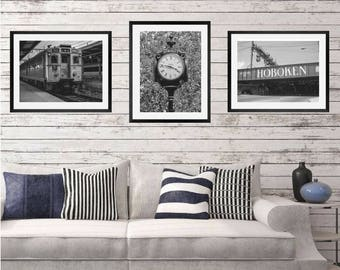 Hoboken, Wall Art, Set of 3, poster, Hoboken, Hoboken nj, hoboken nj wall art, Hoboken New Jersey, Jersey Art, hoboken nj art