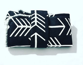 Gender Neutral Baby Changing Pad, Black with White Arrow Changing Pad, Travel Changing Pad, Roll Up Changing Pad, BizyBelle