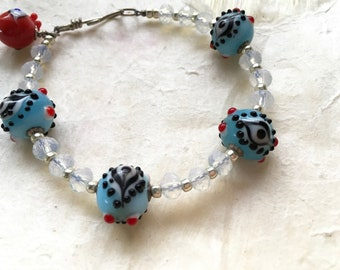 Blue Eyes and Opalite Bracelet