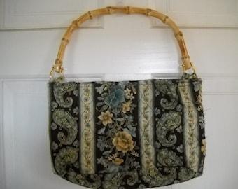 SALE  Bamboo handled purse