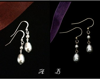 Scotland - Inspired by Claire's Silver Teardrop Earrings,  Valentine's Day or Wedding