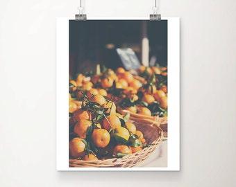 clementine photograph orange photograph french market photograph food photography kitchen wall art mediterranean decor french decor