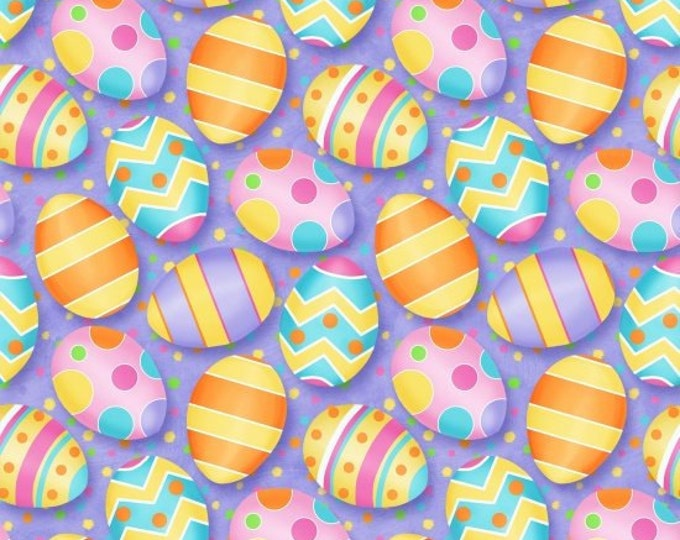 Pretty Eggs 100% cotton fabric sold by the yard  #494