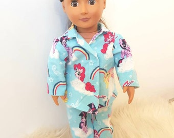 Doll Pajamas 18inch Gits American girl, Our generation, baby born dolls