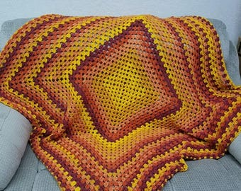 "Hand made ""Sunrise"" colored Lap blanket"