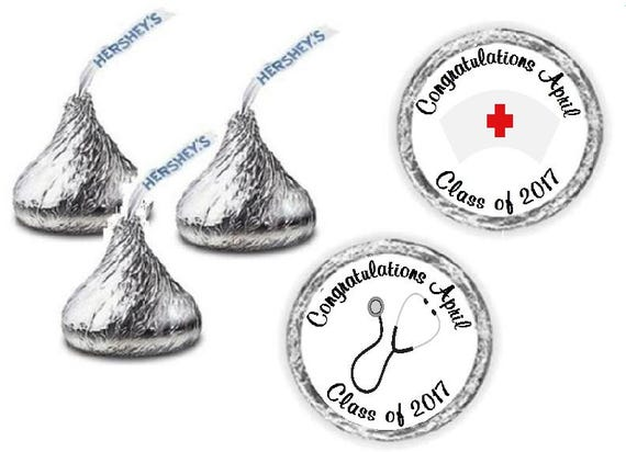 108 Nursing Graduation Hershey Kiss Candy Label Wrapper Favors