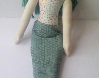 Mermaid Doll Handmade Cloth Doll