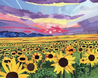 Sunflowers at Sundown Magazine Collage