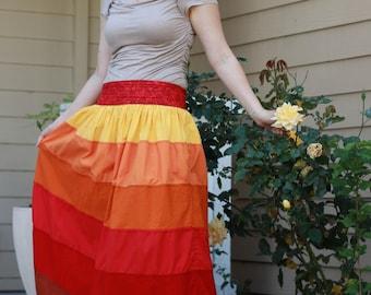 Maxi Long Amazing Six-Colored Cotton Skirt
