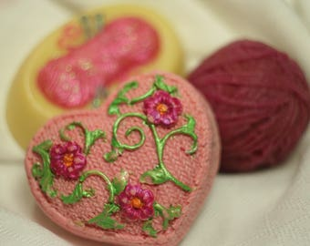 Soaps for Knitters, Crocheters, and Yarn Lovers 3 Bars