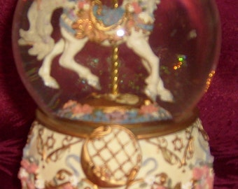 Vintage Moonshadow Musical Snow Globe by Toni Baley