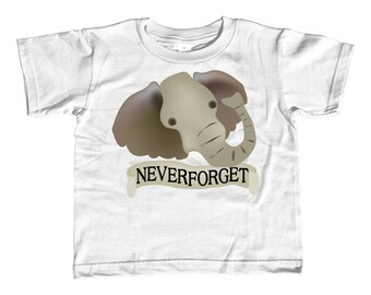 Toddler Tee - Elephants Never Forget Kids' Shirt - Sizes 2T-3T-4T-5/6T