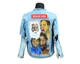 Expressions Hand Painted denim Jacket