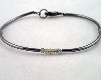 Four Corners Bracelet In Labradorite - handmade to order in NYC