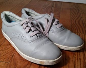 granny shoes leather oxfords, vintage granny shoe hipster shoes, grey leather shoes womens oxfords 7 W