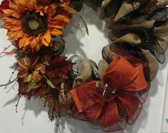 Sunflower wild flowers wreath