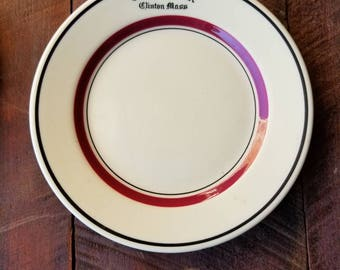 The Old Timer - Clinton, Mass plate made by Iroquois China