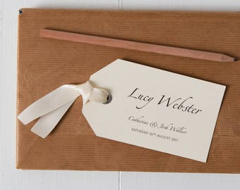 Personalised Luggage Tag Place Card