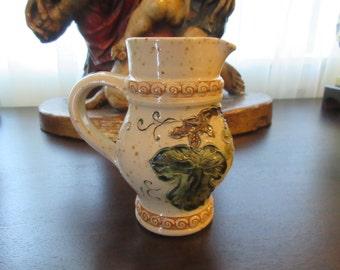 FRANCE ALSACE GRAESSE Art Pottery Pitcher