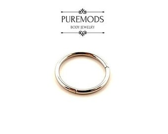 Titanium Hinged Segment Ring 16G - 14G (you pick your own custom color)