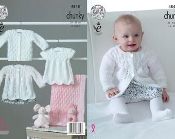 Brand New! Matinee Coat, Angel Top, Cardigan & Blanket Knitting Pattern