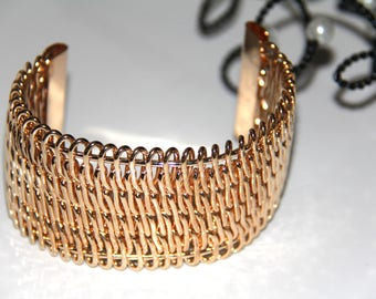 Medium gold cuff bracelet to customize