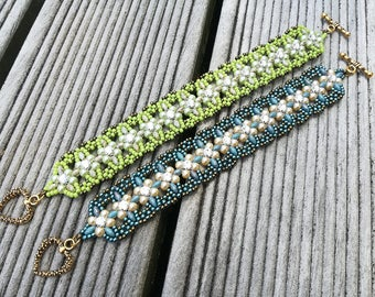 Pacific Montee Bracelet Tutorial - by Jenny Sangster