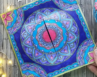 Mandala Christmas Endless Card   Advent Calendar Endless Card   Neverending Card   Papercraft to Color In