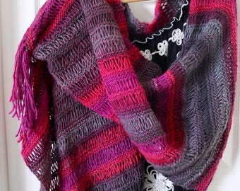 Boho chic wrap shawl