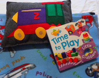 Time to play action board book, blanket, and pillow gift set