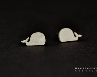 Little Whale  Stud Earrings