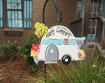Camper Door Hanger, Camper Decor, Sign for Campsite, Camping sign , Name Sign for Camping, Family Camper Sign, Camp decor, Happy Camper sign