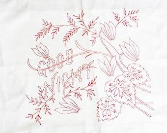 Embroidery PDF - Vintage - Good Night