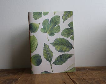 Hand-bound A5 Sketchbook - Foliage